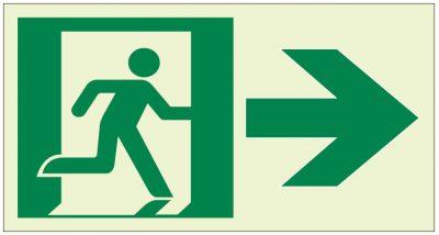 Luminous-Photoluminescent-Pathmarking-Sign-Running-Man-Arrow