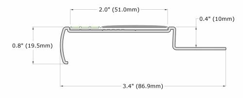M4.125-E30-Tile Nosing-Dimension