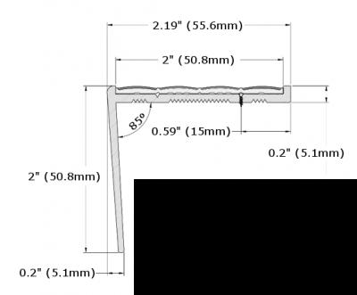 RF7C-N30 Resilient Floor Nosing_Dimension