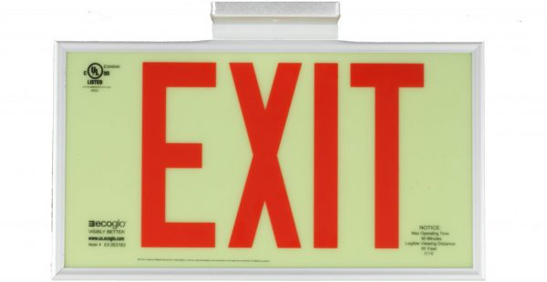 Ecoglo EX Standard Series Luminous Exit Sign